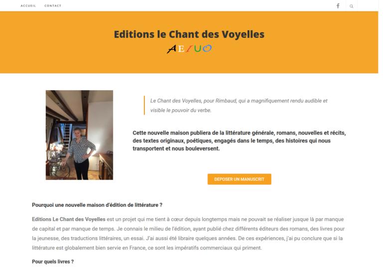 création de site Site Editions le chant des voyelles par 2CA Web