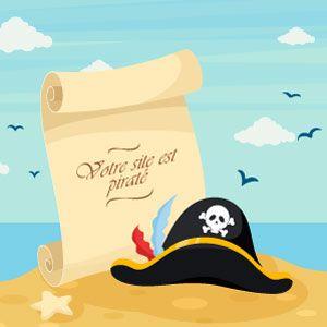 chapeau de pirate sur une ile