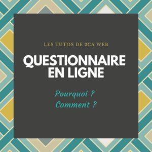 Un questionnaire en ligne : pourquoi et comment faire ?