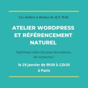 atelier 2CA Web WordPress et Referencement naturel